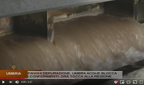 26 09 2018 - servizio Umbria TV - I fanghi in Umbra Acque